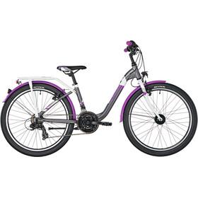 s'cool chiX 24 21-S alloy Kids, darkgrey/violett matt